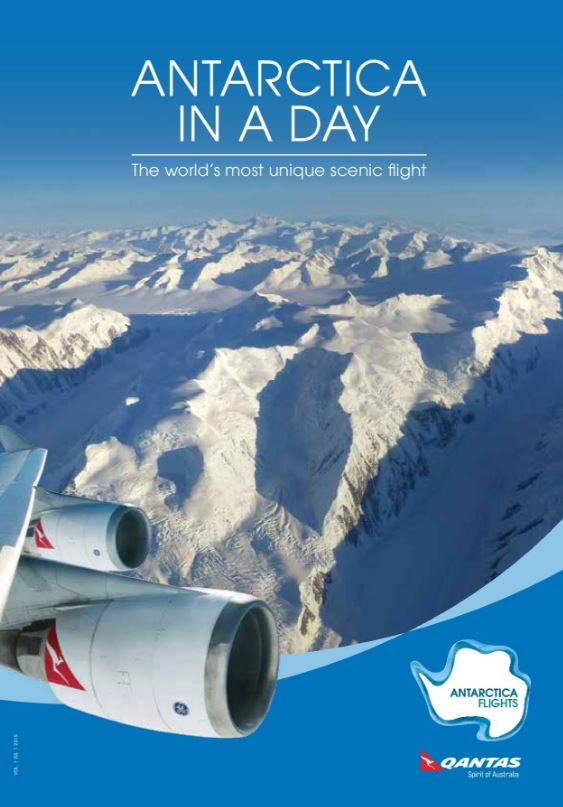 Antarctica Flights brochure